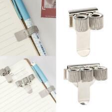 Metal Spring Pen Holder With Pocket Clip Doctors Nurse Pen Holders Uniform X7L0