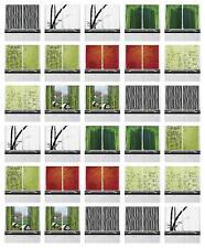 "Bamboo Kitchen Curtains 2 Panel Set Window Drapes 55"" X 39"" Ambesonne"