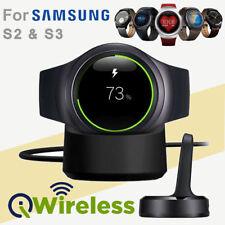 Qi Wireless Ladestation Cradle Ladegerät für Samsung Gear S2 S3 Classic Frontier