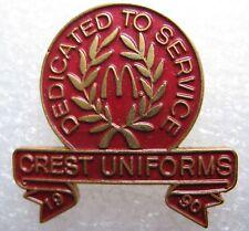 Pin's Dedicated To Service Crest Uniforms 90 Mc Donalds #365