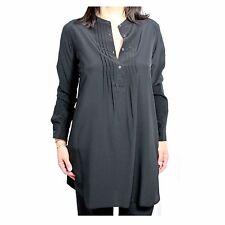 ASPESI camisa de mujer larga negra mod H701 B753 100% seda