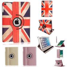 New Union Flag Rose/Or Rotating Case Cover for iPad 234 Mini air iPad 2017 9.7