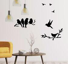 Wandtattoo Vögel auf Ast Retro Frühling  Aufkleber Folie Sticker