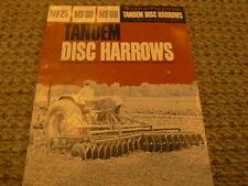 Massey Ferguson MF25 MF39 MF68 Tandem Disc Dealer's Brochure
