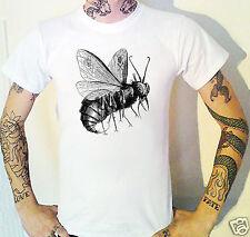 Beelzebub gothique Bee T-shirt. Gravure Eau-Forte DIABLE SATAN BIBLE Victorien