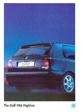 VW VOLKSWAGEN GOLF VR6 HIGHLINE SPECIAL EDITION SALES 'BROCHURE'/SHEET MAY 1996