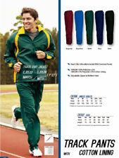 Unisex Adults Men's Ladies Women's Track Pants w Adjustable Zipper At Bottom Hem