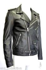 Brando Men's Classic Black Designer Motorcycle Biker Real Cowhide Leather Jacket