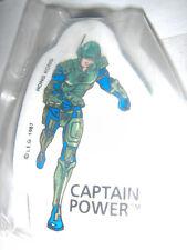 Captain Power Eraser New Mint Old Stock 1987