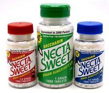 Necta Sweet Saccharin 1000-Tablet Bottle 1-Grain, 1/2-Grain or 1/4-Grain Tablet