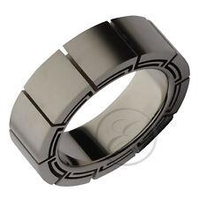 Anello In Titanio Design Piatto A Forma Di Fede Nuziale 8mm