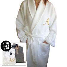 LADY 5* HOTEL EDITION BATH ROBE WHITE WAFFLE/TERRY WOMAN PERSONALIZED BATHROBE