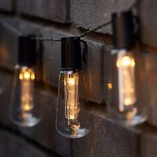 LED Solare Vintage Edison Lampadina Stringa Luci Giardino Esterni Estate Fata