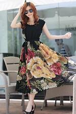New Elegant Bohemian Style Cap Sleeve Chiffon Dress M,L,XL,XXL ONLINE SHOP