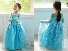 ELSA BLUE Princesse Robe Déguisement ELSA Fille Fête Enfants Cosplay Frozen Noël