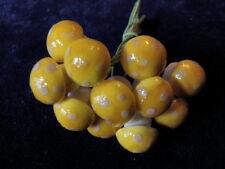 "Vintage Millinery Spun Cotton Mushroom 12pc Yellow 1/2"" Eh2A Lot Fairy Garden"