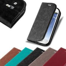 Handy Hülle für Samsung Galaxy S3 MINI Cover Case Tasche Etui mit Kartenfach