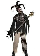 Mens Halloween Evil Twisted Jester Costume