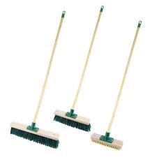 Yard Garden Brush 1.2M Sweeping Floor Wooden Broom Handle Stiff Bristles Outdoor