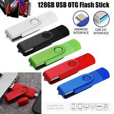 128GB OTG USB 3.0 Flash Memory Stick Pen Drive Thumb Key For Android  Phone / PC