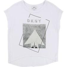 DKNY T-Shirt  Kinder weiß grau Logo 122 128 134 140 146 152 158 164 172 NEU