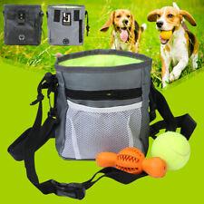 Pet Dog Nylon Treat Pouch Training Bag Waist Belt Shoulder Strap Food Dispenser