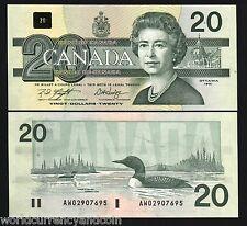 CANADA 20 DOLLARS P97 1991 QUEEN ELIZABETH BIRD UNC CURRENCY MONEY BILL BANKNOTE