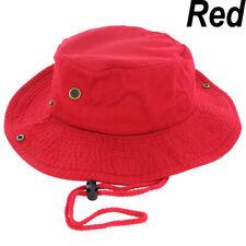 New Mens Boonie Bucket Hat Cap Cotton Fishman Hunting Safari Summer Military Red