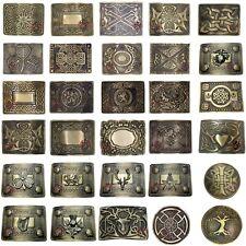 New Scottish Kilt Belt Buckle Antique Swirl Celtic Knot Highland Thistle Buckles