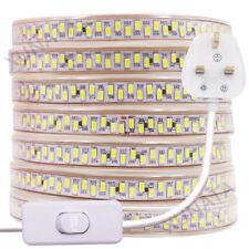 High bright Waterproof 5630 LED Strip 220V 240V Flexible tape rope Light UK Plug