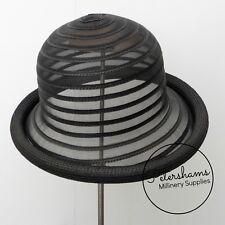 Crinoline & Poly-Braid Rolled Edge Hat Base - Black, Peach or White