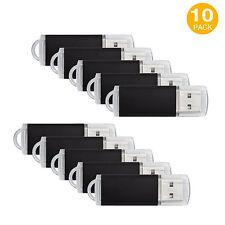 Black 10 Pack 1GB/2GB/4GB/8GB/16GB USB Flash Drives Memory Sticks Thumb Pen