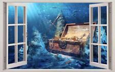 Pirate Treasure 3D Window Decal Wall Sticker Home Decor Art Mural J1152
