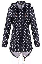 Womens Plus Size Waterproof Fishtail Polka Dot Parka Coat 18-24