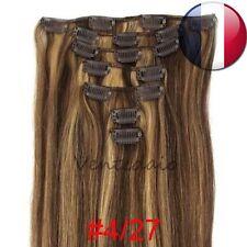 EXTENSIONS DE CHEVEUX A CLIPS 100% NATURELS REMY HAIR 53CM MIXTE 4/27