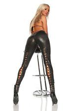 Sexy Leggins Pour Femmes croco look mouillé Laçage L XL 40 42 LOTS SPÉCIAUX