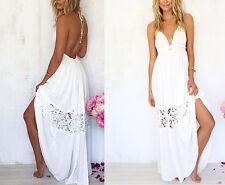 Vestito Lungo Donna Pizzo Copricostume - Woman Maxi Lace Dress Cover Ups 110117