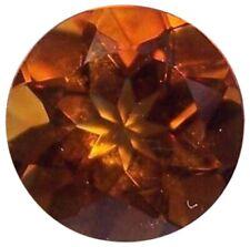 Natural Fine Deep Orange Gold Madeira Citrine - Round - Brazil - Top Grade