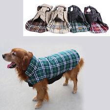HIGA Pet Dog Clothes Winter Warm Grid Reversible Double-sided Vest Jacket Coat