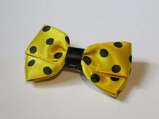 Barrette élastique chouchou pince Broche petit noeud papillon cheveux jaune noir