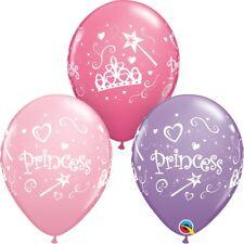 "Princess Party Helium Quality Latex Balloons 11"" Tiara Crown Wand Pink Purple"