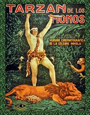 Choose Paper or Canvas POSTER.Tarzan de los Monos art movie.home decor.q177