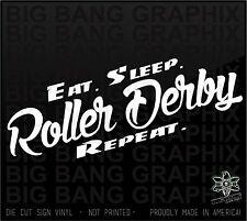 Roller Derby Vinyl Decal Sticker Die Cut Derby Rocker Badass Derby Girl CHick