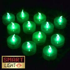 SmartLight GREEN Flameless LED Battery Tea Light Candles Tealights -KID/PET SAFE