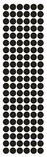 "3/8"" Black Round Vinyl Color Code Inventory Label Dot Stickers"
