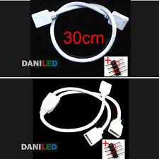 Conector alargador RGB  30cm + 2 -4pin ó Conector divisor 2 puertos RGB +3-4pin