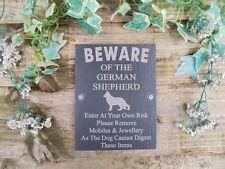 Divertente attenzione al Cane da pastore tedesco ARDESIA porta, cancello, Segno Di Placca