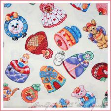 BonEful Fabric FQ Cotton Quilt Thanksgiving Turkey Xmas Cookie Birthday Cupcake