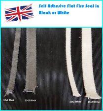Self Adhesive Woodburning Woodburner Stove Rope Glass Seal Flat Tape Fire Gasket