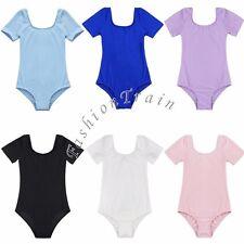 Girls Camisole Gymnastics Leotard Toddler Kid Child Ballet Dance wear Size 3-12